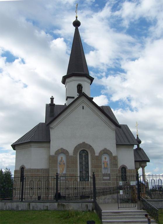 Церковь георгия победоносца на московском шоссе